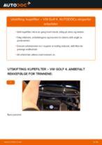 DIY-manual for utskifting av Kupefilter i VW GOLF 2020