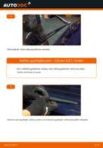 Kuinka vaihtaa pyyhkijänsulat taakse Citroen C3 1-autoon – vaihto-ohje