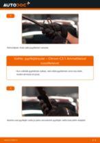 Kuinka vaihtaa pyyhkijänsulat eteen Citroen C3 1-autoon – vaihto-ohje