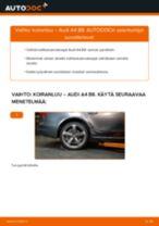 Kuinka vaihtaa koiranluu taakse Audi A4 B8-autoon – vaihto-ohje