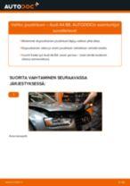 Kuinka vaihtaa joustintuki eteen Audi A4 B8-autoon – vaihto-ohje
