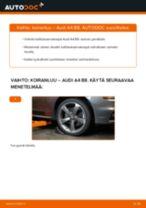 Kuinka vaihtaa koiranluu eteen Audi A4 B8-autoon – vaihto-ohje