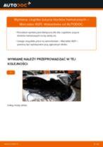 Jak wymienić czujnik zużycia klocków hamulcowych tył w Mercedes W211 - poradnik naprawy