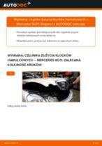 Jak wymienić czujnik zużycia klocków hamulcowych przód w Mercedes W211 - poradnik naprawy