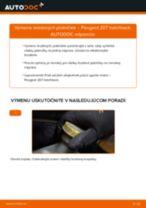 Ako vymeniť zadné brzdové platničky na Peugeot 207 hatchback – návod na výmenu