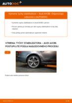 Ako vymeniť zadné tyčky stabilizátora na Audi A4 B8 – návod na výmenu