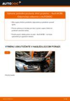 Montáž Tlmiče perovania AUDI A4 (8K2, B8) - krok za krokom príručky