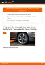 Ako vymeniť predné tyčky stabilizátora na Audi A4 B8 – návod na výmenu