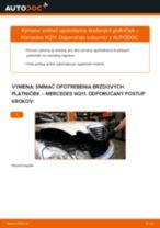 Podrobný PDF tutorial k výmene MERCEDES-BENZ E-CLASS (W211) Snímač opotrebovania