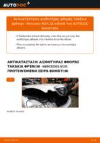Αλλαγη Ένδειξη φθοράς: pdf οδηγίες για MERCEDES-BENZ E-CLASS