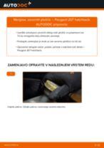 Kako zamenjati avtodel zavorne ploščice zadaj na avtu Peugeot 207 hatchback – vodnik menjave