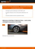 Kako zamenjati avtodel končnik stabilizatorja zadaj na avtu Audi A4 B8 – vodnik menjave
