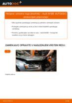 Vodič PDF po korakih za menjavo AUDI A4 (8K2, B8) Blazilnik