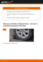 Kako zamenjati avtodel končnik stabilizatorja zadaj na avtu VW Golf 5 – vodnik menjave