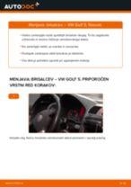 Kako zamenjati avtodel brisalce spredaj na avtu VW Golf 5 – vodnik menjave