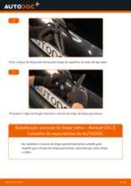Como mudar escovas do limpa vidros da parte traseira em Renault Clio 2 - guia de substituição