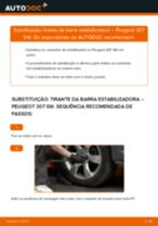 Manual DIY sobre como substituir o Tirante da Barra Estabilizadora no PEUGEOT 307
