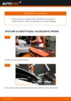 Como mudar escovas do limpa vidros da parte traseira em Toyota Auris E15 - guia de substituição