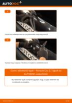 Hátsó ablaktörlő lapát-csere Renault Clio 2 gépkocsin – Útmutató