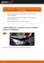 Hátsó fékbetétek-csere Peugeot 307 SW gépkocsin – Útmutató