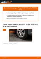 Elülső kerékcsapágy-csere Peugeot 307 SW gépkocsin – Útmutató