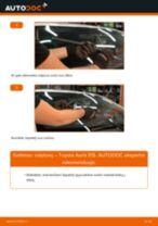 Kaip pakeisti Toyota Auris E15 valytuvų: priekis - keitimo instrukcija
