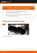 Pakeisti Įsiurbimo vamzdis, oro filtras MERCEDES-BENZ E-CLASS: instrukcija