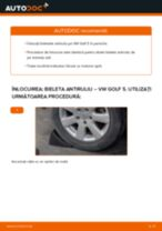 Aflați cum să ajustează Bara torsiune față stânga VW