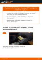 Wie Peugeot 207 Schrägheck Bremsbeläge hinten wechseln - Anleitung