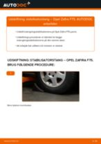 Udskift stabilisatorstang for - Opel Zafira F75 | Brugeranvisning