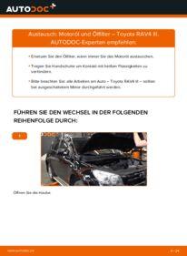 Wie der Wechsel durchführt wird: Ölfilter 2.2 D 4WD (ALA30_) Toyota RAV4 III tauschen
