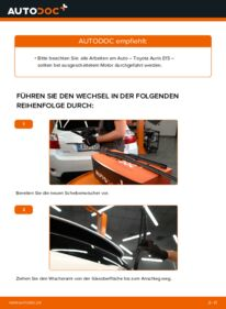 Wie der Wechsel durchführt wird: Scheibenwischer 1.4 D-4D (NDE150_) Toyota Auris e15 tauschen
