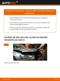 Wie der Wechsel durchführt wird: Stoßdämpfer 2.0 TDI Audi A4 B8 tauschen