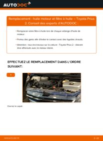 Comment effectuer un remplacement de Filtre à Huile sur 1.5 (NHW2_) Toyota Prius 2