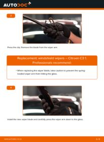 How to carry out replacement: Wiper Blades on 1.4 HDi Citroen C3 Mk1
