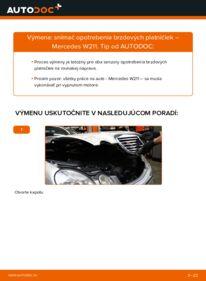 Ako vykonať výmenu: Snímač opotrebovania na E 220 CDI 2.2 (211.006) Mercedes W211