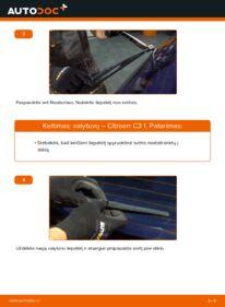 Kaip atlikti keitimą: 1.4 HDi CITROËN C3 I (FC_) Valytuvo gumelė
