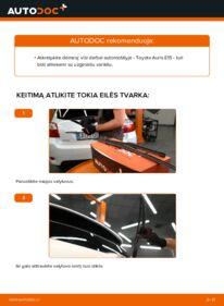 Kaip atlikti keitimą: 1.4 D-4D (NDE150_) Toyota Auris e15 Valytuvo gumelė
