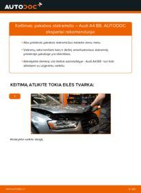 Kaip atlikti keitimą: 2.0 TDI Audi A4 B8 Sedanas Amortizatorius