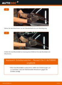 Wie der Wechsel durchführt wird: Scheibenwischer 1.2 Renault Clio 2 tauschen