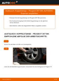 Wie der Wechsel durchführt wird: Koppelstange 1.6 HDI 110 Peugeot 307 SW tauschen