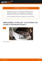 Comment changer : filtre à air sur Toyota Prado J120 - Guide de remplacement