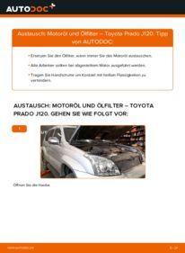 Wie der Wechsel durchführt wird: Ölfilter 3.0 D-4D Toyota Prado J120 tauschen