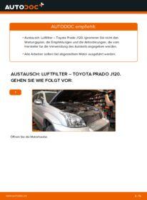 Wie der Wechsel durchführt wird: Luftfilter 3.0 D-4D Toyota Prado J120 tauschen