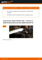 Anleitung: VW Golf 3 Diesel Kraftstofffilter wechseln
