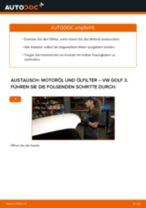 VW GOLF III (1H1) Ölfilter wechseln Ersatz Anleitung pdf