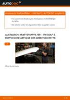 Wie VW Golf 3 Diesel Kraftstofffilter wechseln - Schritt für Schritt Anleitung