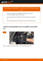 Remblokken vóór en achter veranderen VW GOLF III (1H1): instructie pdf