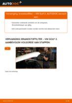 Vervang het Brandstoffilter van de VW GOLF III (1H1) met onze online pdf-handleiding