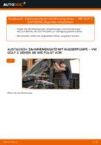 Zahnriemensatz mit Wasserpumpe selber wechseln: VW Golf 3 - Austauschanleitung